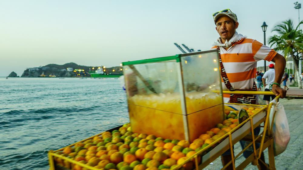Juice cart Santa Marta Colombia