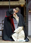 The Heresy of Love <br /> By Helen Edmundson<br /> at Shakespeare's Globe Theatre, London, Great Britain <br /> press photocall <br /> 4th August 2015 <br /> <br /> Directed by<br /> John Dove<br /> <br /> Sophia Nomvete<br /> Juanita <br /> <br /> Gwyneth Keyworth<br /> Angelica<br /> <br /> Naomi Frederick<br /> Sor Juana<br /> <br /> Rhiannon Oliver<br /> Sor Sebastiana<br /> <br /> Anthony Howell<br /> Bishop Santa Cruz<br /> <br /> Gary Shelford<br /> Don Hernando<br /> <br /> <br /> Photograph by Elliott Franks <br /> Image licensed to Elliott Franks Photography Services