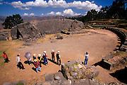 PERU, HIGHLANDS, CUZCO, INCA Qenko, shrine and amphitheater