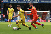Bristol Rovers attacker Tom Nichols (10) and Luton Town midfielder Andrew Shinnie (11) during the EFL Sky Bet League 1 match between Luton Town and Bristol Rovers at Kenilworth Road, Luton, England on 15 September 2018.