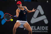 Ashleigh Barty of Australia in action during her quarter-final match at the 2020 Adelaide International WTA Premier tennis tournament against Marketa Vondrousova of the Czech Republic. Photo Rob Prange / Spain ProSportsImages / DPPI / ProSportsImages / DPPI