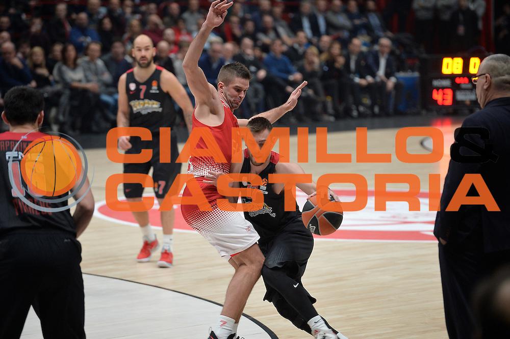 Mantzaris Vangelis<br /> EA7 Emporio Armani Olimpia Milano - Olympiacos Piraeus<br /> Euroleague 2016/2017<br /> Milano 25/01/2017<br /> Foto Ciamillo-Castoria