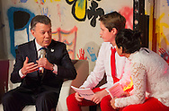 Oslo, 10-12-2016  <br /> <br /> Crown Prince Haakon and Crown Princess Mette Marit of Norway attend the Save the Children&rsquo;s Peace Prize Party with Nobel Peace Prize winner President Juan Manuel Santos of Columbia<br /> <br /> COPYRIGHT ROYALPORTRAITS EUROPE/ BERNARD RUEBSAMEN