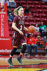 29 January 2017:  Olivia Bowling during an College Missouri Valley Conference Women's Basketball game between Illinois State University Redbirds the Salukis of Southern Illinois at Redbird Arena in Normal Illinois.