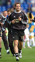 Photo: Leigh Quinnell.<br /> Birmingham City v Newcastle United. The Barclays Premiership. 29/04/2006. Michael Owen warms up for Newcastle.