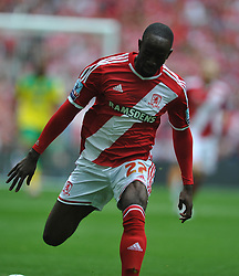 Albert Adomah, Middlesbrough, Middlesbrough v Norwich, Sky Bet Championship, Play Off Final, Wembley Stadium, Monday  25th May 2015