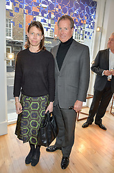 LADY SARAH CHATTO and VISCOUNT LINLEY at a party to celebrate the 30th anniversary of Linley held at Linley, 60 Pimlico Road, London on 3rd May 2016.