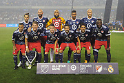 CHICAGO, IL - AUGUST 02: The MLS All-Stars pose for a photo prior to a soccer match between the MLS All-Stars and Real Madrid on August 2, 2017, at Soldier Field, in Chicago, IL. (Photo by Patrick Gorski/Icon Sportswire)