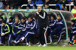 Swansea manager Garry Monk - Photo mandatory by-line: Matt Bunn/JMP - Tel: Mobile: 07966 386802 10/02/2014 - SPORT - FOOTBALL - Stoke - Britannia Stadium - Stoke City  v Swansea City - Barclays Premiership