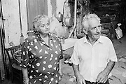 A farmer and shepherd with his wife at their home near Ste-Croix-de-Caderle in the Cévennes, in the Gard departement in the south of France.