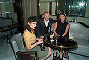 MISS JULIA; JAMES SMALL; FRAN CUTLER, GQ Style party, The Bassoon Bar , The Corinthia Hotel, Whitehall Place London. 15 March 2011.  -DO NOT ARCHIVE-© Copyright Photograph by Dafydd Jones. 248 Clapham Rd. London SW9 0PZ. Tel 0207 820 0771. www.dafjones.com.