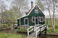 Classic Dutch homes, Zaanse Schans, Holland, Netherlands