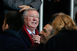 Sir Alex Ferguson  takes his seat in the crowd - Photo mandatory by-line: Rogan Thomson/JMP - 07966 386802 - 17/02/2015 - SPORT - FOOTBALL - Paris, France - Parc des Princes - Paris Saint-Germain v Chelsea - UEFA Champions League, Last 16, First Leg.
