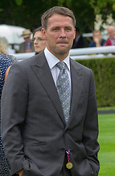 Former England footballer Michael Owen on the second day of Glorious Goodwood<br /> London, United Kingdom,<br /> Wednesday, 31st July 2013<br /> Picture by i-Images