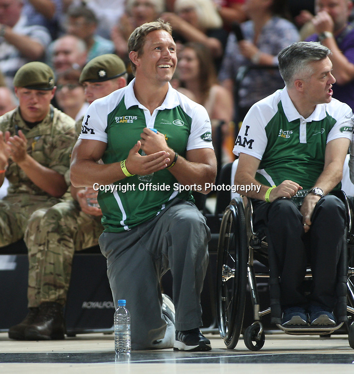 12 September 2014 - Invictus Games Day 2 - Wheelchair Rugby Celebrity Match - Team Invictus Manager Jonny Wilkinson.<br /> <br /> Photo: Ryan Smyth/Offside