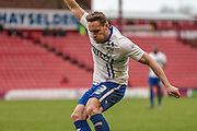 Chris Hussey (Bury) crosses the ball during the Sky Bet League 1 match between Barnsley and Bury at Oakwell, Barnsley, England on 7 February 2016. Photo by Mark Doherty.