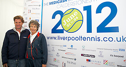 LIVERPOOL, ENGLAND - Friday, June 22, 2012: Virginia Wade and Tournament Director Anders Borg at a press conference during day two of the Medicash Liverpool International Tennis Tournament at Calderstones Park. (Pic by David Rawcliffe/Propaganda)