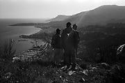 A group of refugees is seen searching for the right path to reach the French town of Menton. Many migrants lost their life falling in the precipices along the path that gave the infamous  name to the Death pass. Federico Scoppa