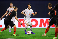 Marco Asensio of Spain during the UEFA Nations League football match between Croatia and Spain, on November 15, 2018, at the Maksimir Stadium in Zagreb, Croatia. Photo by Morgan Kristan / Sportida