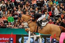 EHNING Marcus (GER), Pret a Tout<br /> Leipzig - Partner Pferd 2020<br /> Championat vonLeipzig<br /> Springprfg. mit Stechen, international<br /> Höhe: 1.50 m<br /> 18. Januar 2020<br /> © www.sportfotos-lafrentz.de/Stefan Lafrentz