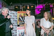 2018-03-20. De Bajes, Amsterdam. Lancering 6e editie van Amsterdam XXXL. Op de foto: Mark Teurlings, Jimena Rico en Yasmin Verheijen