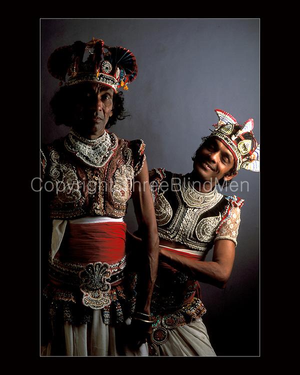 Sri Lanka. <br />Two dancers from Ambalangoda.
