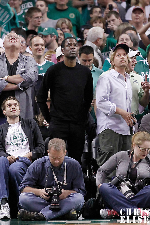 21 May 2012: Chris Rock is seen during the Boston Celtics 101-85 victory over the Philadelphia Sixer, in Game 5 of the Eastern Conference semifinals playoff series, at the TD Banknorth Garden, Boston, Massachusetts, USA.