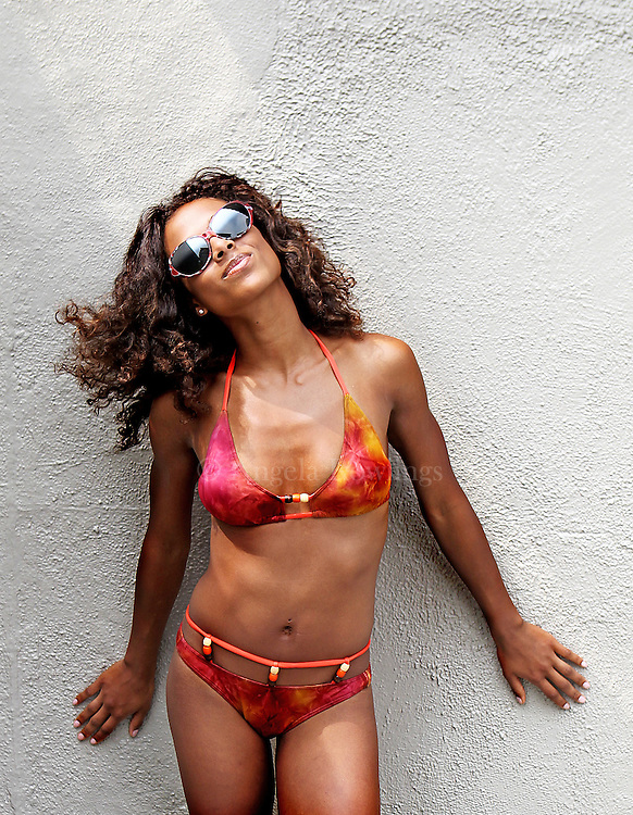 (060911  Boston, MA) Asia models a swimsuit at the Colonnade Hotel, Thursday,  June 09, 2011.  Staff photo by Angela Rowlings.