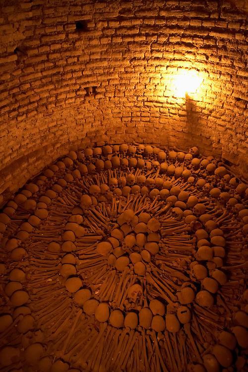 catacombs  Convento y Museo de San Francisco  Lima, Peru