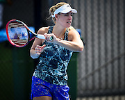 January 08, 2017:  World Number 1 ranked womens tennis player and 2016 US Open Champion Angelique Kerber (GER) pictured during a practice session during the first day of the Apia International Sydney played at the Sydney Olympic Park Tennis Centre. (Photo by Icon Sportswire)