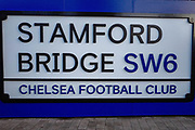 General view of the Stamford Bridge stadium ahead of the quarter final of the EFL Cup match between Chelsea and Bournemouth at Stamford Bridge, London, England on 19 December 2018.