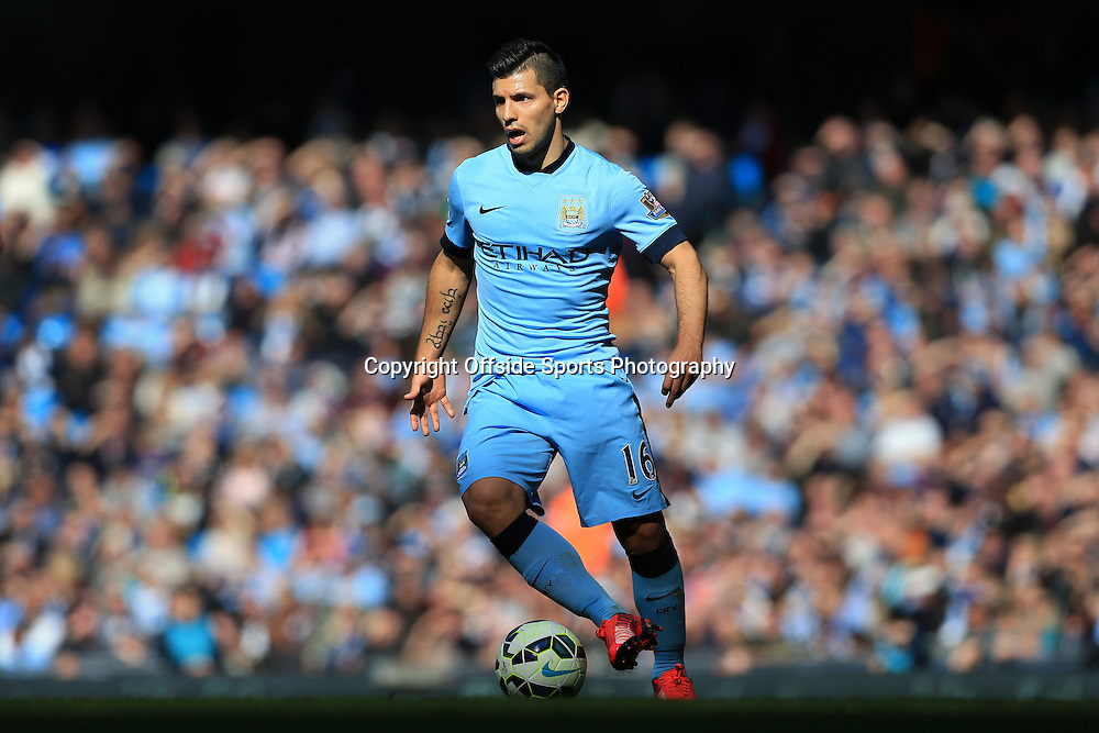 21st March 2015 - Barclays Premier League - Manchester City v West Bromwich Albion - Sergio Aguero of Man City - Photo: Simon Stacpoole / Offside.