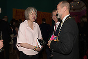 THERESA MAY; CHRISTOPHER LE BRUN, Royal Academy Summer exhibition private view. Piccadilly. London. 3 June 2015