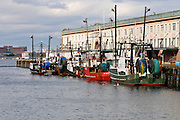Boston Fish Pier with fishing boats