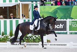 Inessa Merkulova, (RUS), Mister X - Grand Prix Special Dressage - Alltech FEI World Equestrian Games™ 2014 - Normandy, France.<br /> © Hippo Foto Team - Leanjo de Koster<br /> 25/06/14
