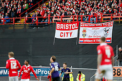 Bristol City banners in the stand - Photo mandatory by-line: Rogan Thomson/JMP - 07966 386802 - 25/01/2015 - SPORT - FOOTBALL - Bristol, England - Ashton Gate Stadium - Bristol City v West Ham United - FA Cup Fourth Round Proper.