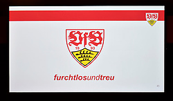 28.07.2014, Stuttgart, GER, 1. FBL, VfB Stuttgart Mitgliederversammlung, im Bild Neue Marke Slogan den VfB: furchtlos und treu furchtlosundtreu // during a members assembly of the german Bundesliga Club VfB Stuttgart at the Stuttgart, Germany on 2014/07/28. EXPA Pictures © 2014, PhotoCredit: EXPA/ Eibner-Pressefoto/ Weber<br /> <br /> *****ATTENTION - OUT of GER*****