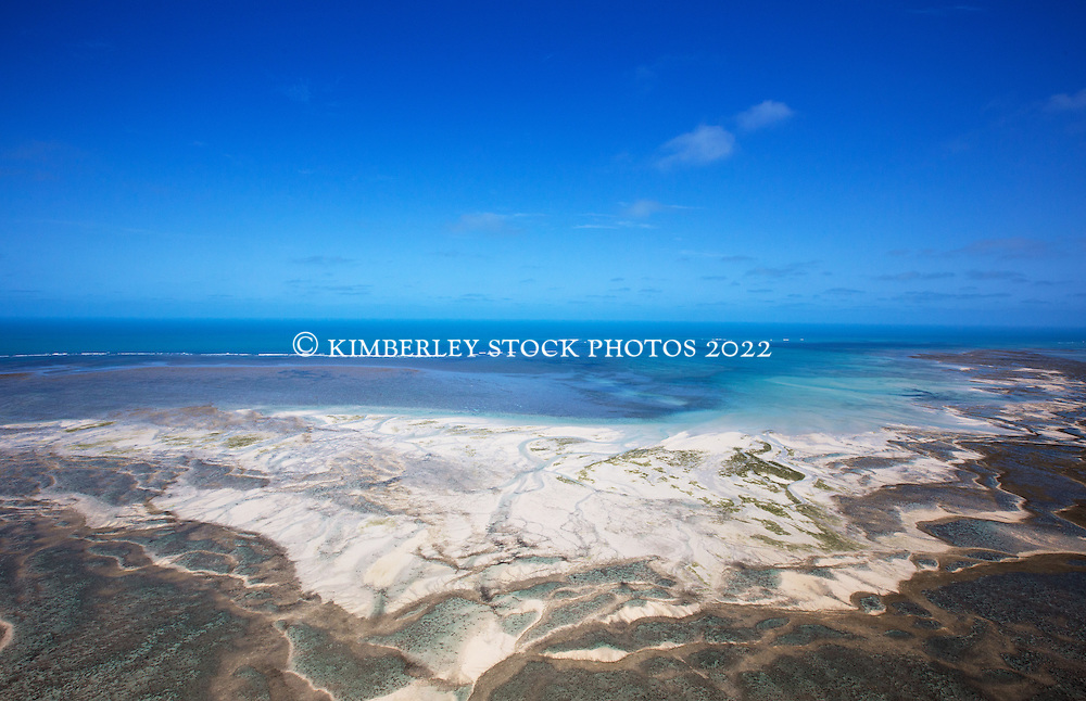 Complex reef structures surround Adele Island on the Kimberley coast.