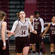 December 16, 2016 - New York, NY : Danielle Padovano (14), a senior forward for the Fordham University Women's Basketball Team, practices with the team in Rose Hill Gymnasium on Friday. CREDIT: Karsten Moran for The New York Times