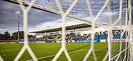 Hovedtribunen under kampen i 2. Division mellem FC Helsingør og Boldklubben Avarta den 16. august 2019, på Helsingør Ny Stadion (Foto: Claus Birch)