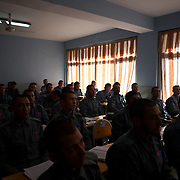 November 14, 2012 - Kabul, Afghanistan: Afghan National Police (ANP) cadets receive theory classes at the Afghan Nacional Police Academy...ANP Academy trains 1250 cadets at the time during a period of four years. Every year, five hundred new recruits are selected, out of more than nine thousand of candidates, to join the academy and other five hundred graduate. Fifteen per cent of the recruits are women. (Paulo Nunes dos Santos/Polaris)