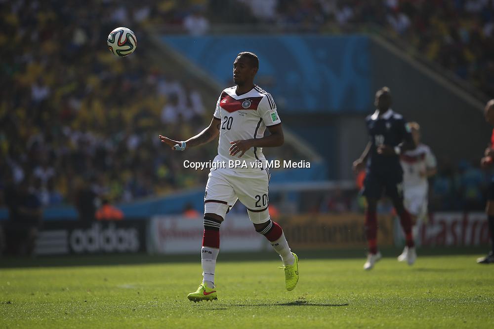 Jerome Boateng. France v Germany, quarter-final. FIFA World Cup Brazil 2014. 4 July 2014
