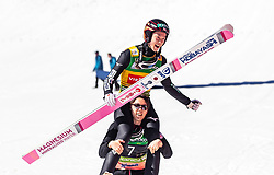 24.03.2019, Planica, Ratece, SLO, FIS Weltcup Ski Sprung, Finale, Weltcup Siegerehrung, im Bild Gesamtweltcupsieger Ryoyu Kobayashi (JPN) mit Teamkollegen // Overall Winner Ryoyu Kobayashi of Japan with Teammates during the awards ceremony of the FIS Ski Jumping and Ski Flying World Cup 2019. Planica in Ratece, Slovenia on 2019/03/24. EXPA Pictures © 2019, PhotoCredit: EXPA/ JFK