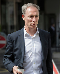© Licensed to London News Pictures. 26/04/2017. London, UK. Former Scottish Labour leader Jim Murphy arrives at Tony Blair's office in the West End. Earlier, Mr Blair met with his former colleague Alastair Campbell. Mr Blair recently called for voters to think about backing Lib Dem or Conservative candidates in the general election on June 8th if they promise to have an open mind about the terms of the final Brexit deal. Photo credit: Peter Macdiarmid/LNP