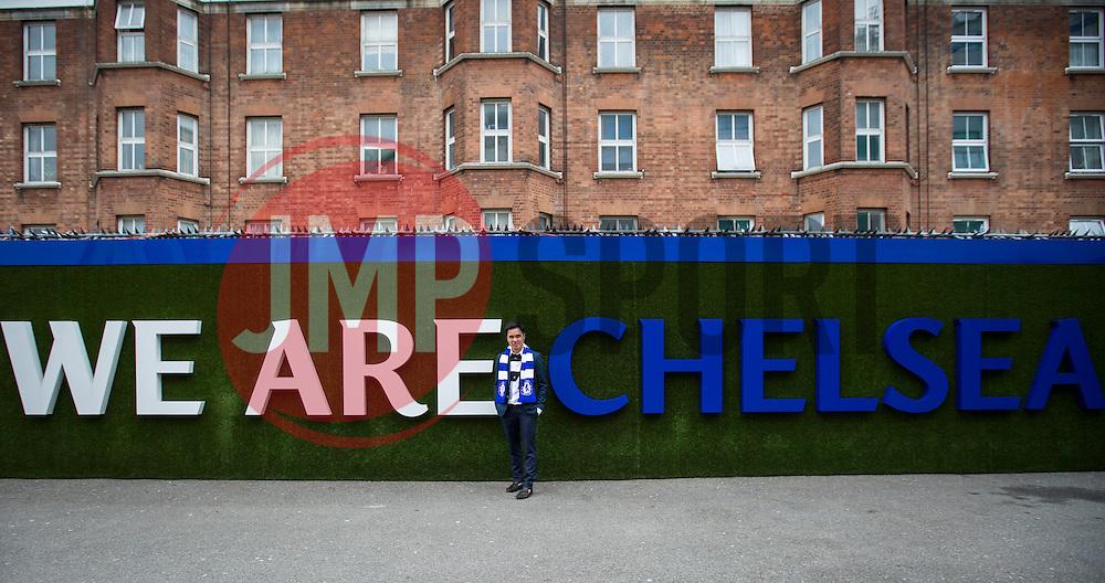 We are Chelsea, Fans arrive at Stamford Bridge - Mandatory byline: Jason Brown/JMP - 16/04/2016 - FOOTBALL - London, Stamford Bridge - Chelsea v Manchester City - Barclays Premier League