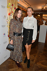 Left to right, KATYA FORMICHEV and MASHA MARKOVA HANSON at the 3rd annual Gynaecological Cancer Fund Ladies Lunch at Fortnum & Mason, 181 Piccadilly, London on 29th September 2016.