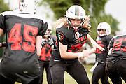 Cernusco SN, 28 aprile 2013 - Prima partita del primo Campionato Italiano di Football Americano Femminile. Furie  - Tempeste Sirene. 29 - Valeria Vismara
