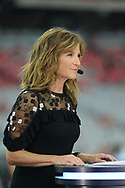 GLENDALE, AZ - SEPTEMBER 25:  ESPN analysts Suzy Kolber on set during the MNF broadcast prior to the NFL game between the Dallas Cowboys and Arizona Cardinals at University of Phoenix Stadium on September 25, 2017 in Glendale, Arizona.  (Photo by Jennifer Stewart/Getty Images)