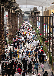 Crowds of shoppers on Grand Avenue in The Avenues shopping mall in Kuwait City, Kuwait.