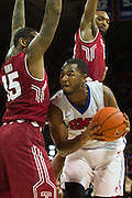 DALLAS, TX - FEBRUARY 19: Markus Kennedy #5 of the SMU Mustangs drives to the basket against Jaylen Bond #15 the Temple Owls on February 19, 2015 at Moody Coliseum in Dallas, Texas.  (Photo by Cooper Neill/Getty Images) *** Local Caption *** Markus Kennedy